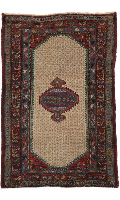 4 x 6 Antique Persian Hamadan Rug 77568
