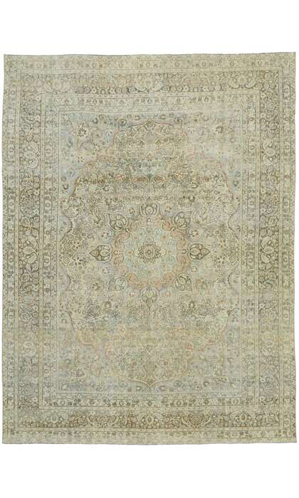 9 x 12 Antique Persian Mashad Rug 53219