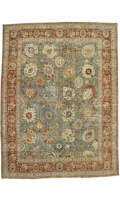 11 x 15 Antique Persian Tabriz Rug 53221