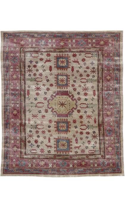 8 x 10 Vintage Persian Khotan Rug 53247