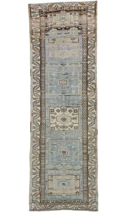 4 x 11 Vintage Turkish Oushak Runner 53256