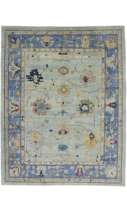 10 x 13 Turkish Oushak Rug 53269