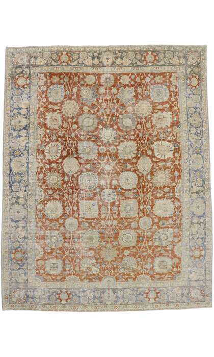 12 x 15 Antique Persian Tabriz Rug