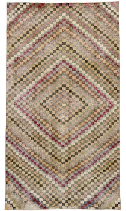 6 x 10 Vintage Turkish Sivas Rug 53376