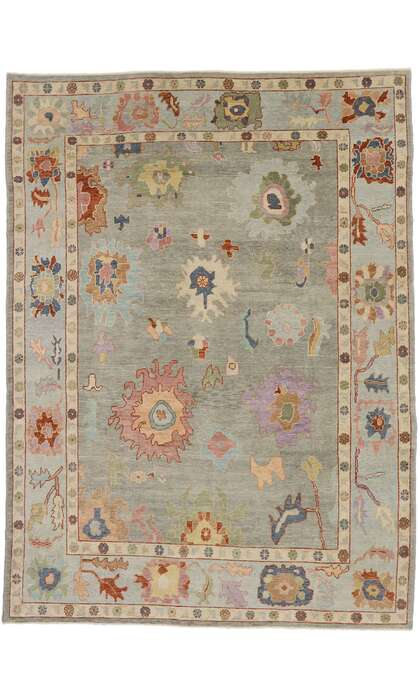 10 x 13 Contemporary Turkish Oushak Rug 53386