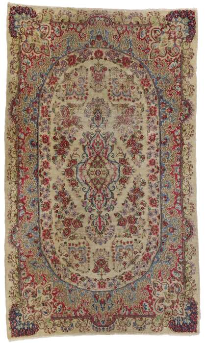 3 x 5 Antique Persian Kerman Rug 77560