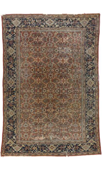8 x 12 Antique Persian Mahal Rug 77572