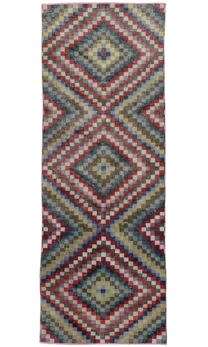4 x 11 Vintage Turkish Sivas Rug 53304