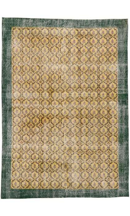 7 x 10 Vintage Turkish Sivas Rug 53305