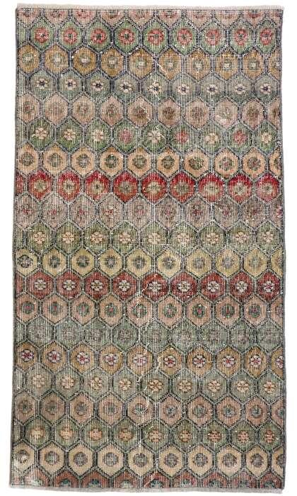 3 x 5 Vintage Turkish Sivas Rug 53312