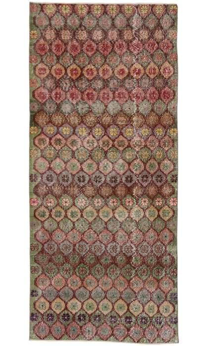 4 x 10 Vintage Turkish Sivas Rug 53316