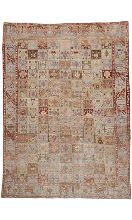 12 x 16 Vintage Persian Bakhtiari Rug