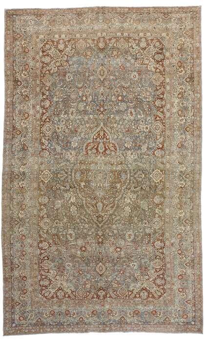 11 x 18 Antique Persian Mashad Rug 53389