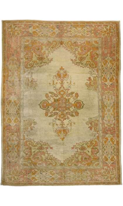 12 x 16 Antique Turkish Oushak Rug 53390