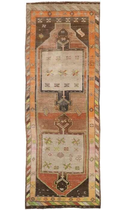 7 x 19 Vintage Turkish Oushak Rug 53391