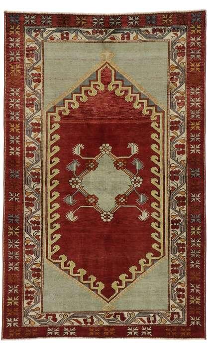 4 x 6 Vintage Turkish Oushak Rug 53394