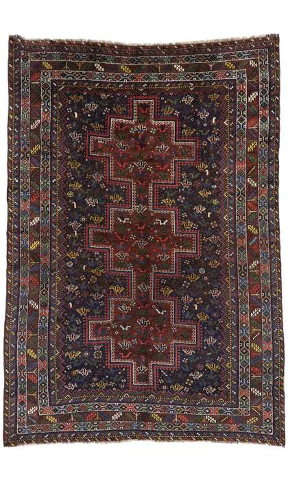 7 x 10 Antique Persian Shiraz Rug 53396