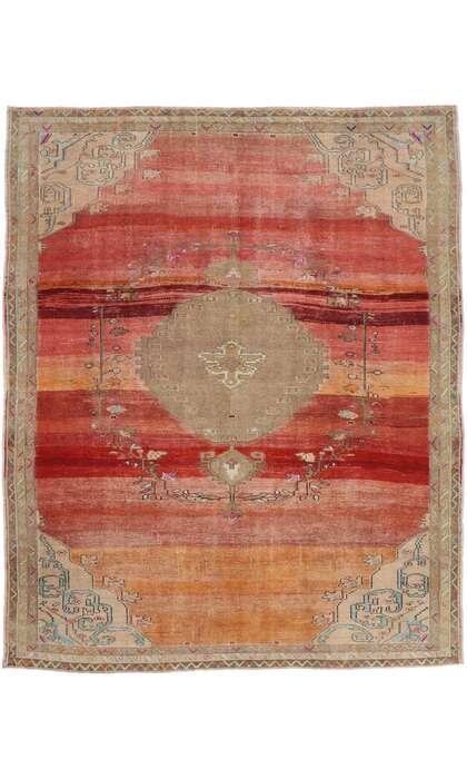 11 x 13 Vintage Turkish Oushak Rug 53400