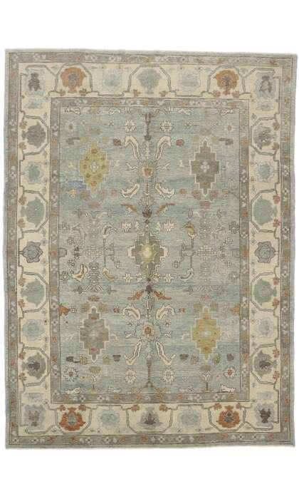 9 x 13 Turkish Oushak Rug 53402