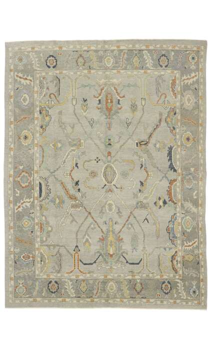 9 x 12 Turkish Oushak Rug 53405
