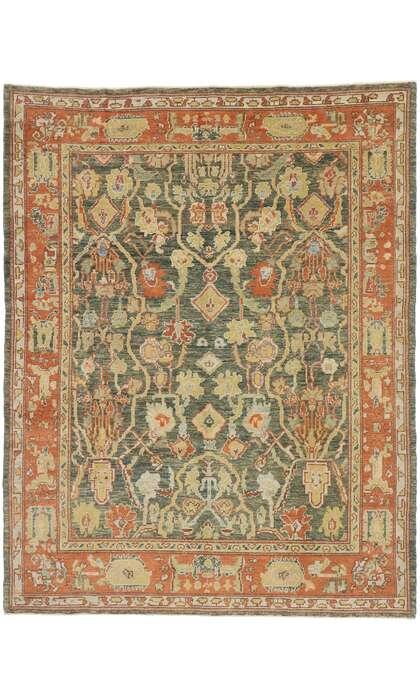8 x 11 Turkish Oushak Rug 53415
