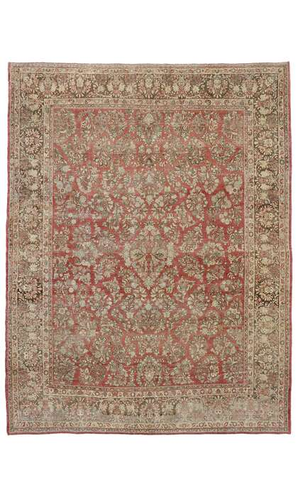 10 x 13 Antique Persian Sarouk Rug  53445