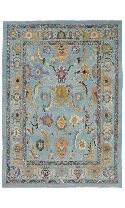 10 x 13 Turkish Oushak Rug 53459