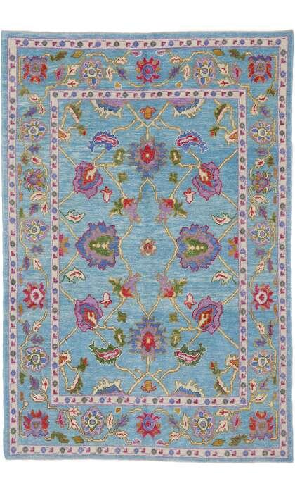 6 x 9 Turkish Oushak Rug 53462