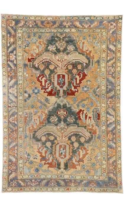 4 x 6 Antique Persian Heriz Rug 53468