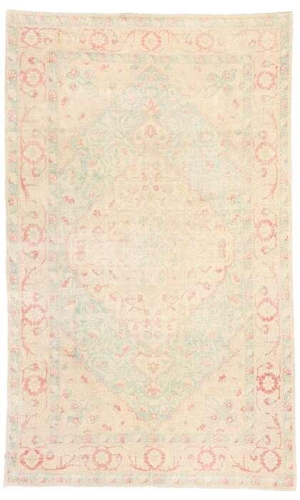 4 x 7 Vintage Turkish Sivas Rug 53471
