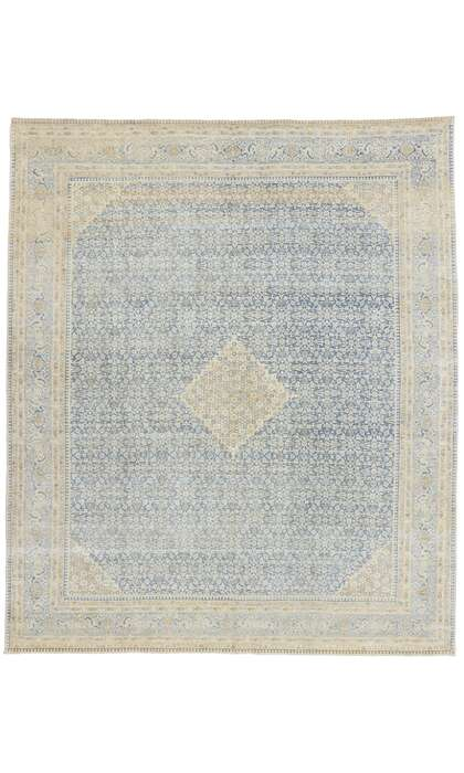 9 x 10 Antique Persian Tabriz Rug 53477