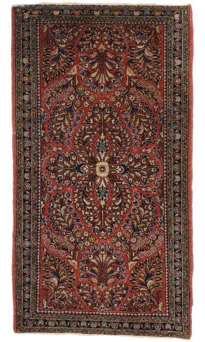 2 x 4 Antique Persian Sarouk Rug 77566