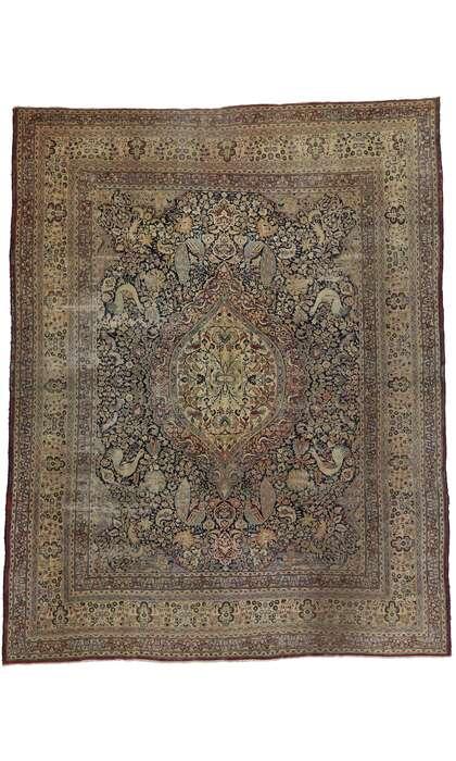 12 x 15 Antique Persian Mashad Rug 77569