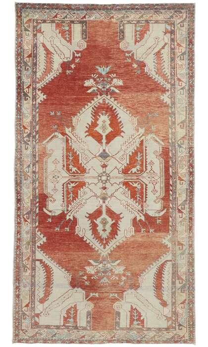 6 x 11 Vintage Turkish Oushak Rug 53480