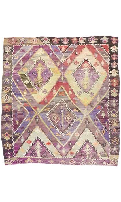 9 x 10 Vintage Turkish Kilim Rug 53484