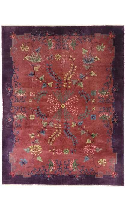 9 x 11 Antique Chinese Art Deco Rug 77582