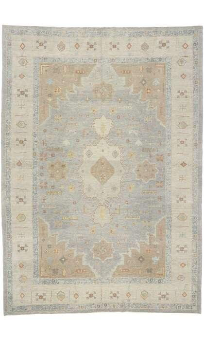 9 x 13 Contemporary Turkish Oushak Rug 53490