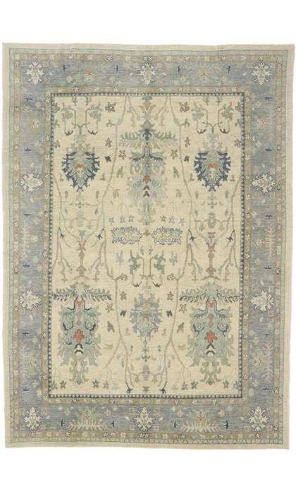 10 x 14 Contemporary Turkish Oushak Rug 53492