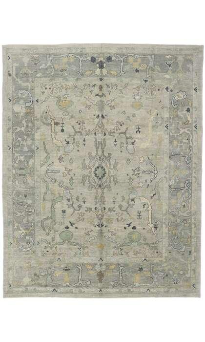 9 x 12 Contemporary Turkish Oushak Rug 53494