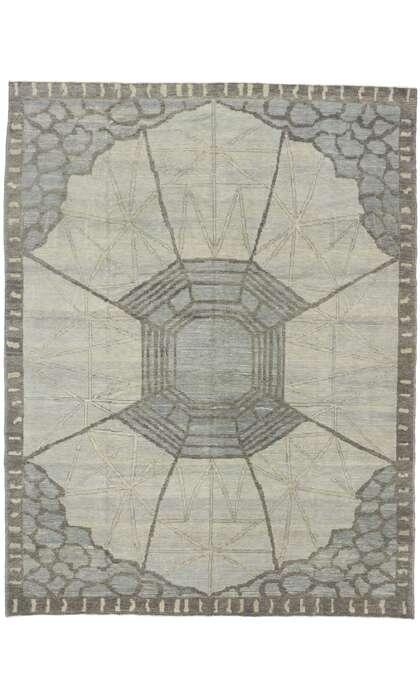9 x 12 Contemporary Turkish Oushak Rug 53501
