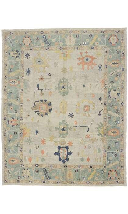 9 x 12 Contemporary Turkish Oushak Rug 53504
