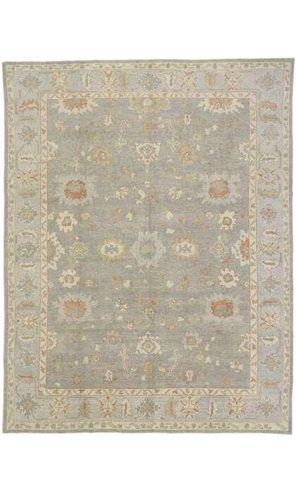 9 x 12 Contemporary Turkish Oushak Rug 53515