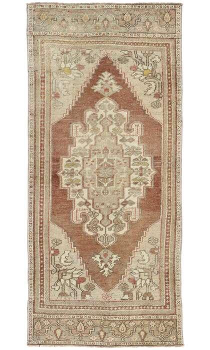 3 x 6 Vintage Turkish Oushak Rug 53518