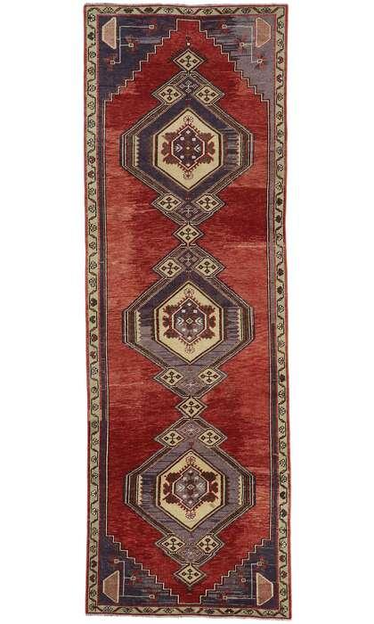 3 x 10 Vintage Turkish Oushak Runner 53521