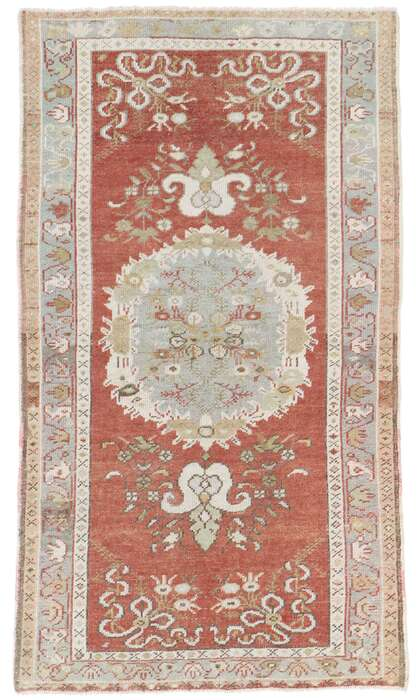 3 x 5 Vintage Turkish Oushak Rug 53523