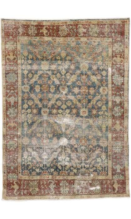 4 x 6 Antique Persian Mahal Rug 60850