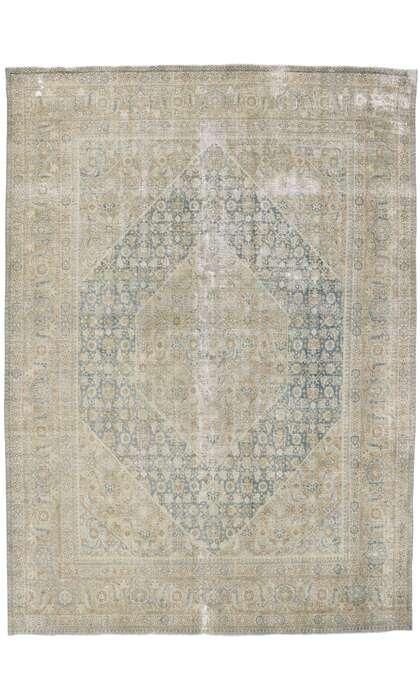 8 x 11 Antique Persian Tabriz Rug 60865