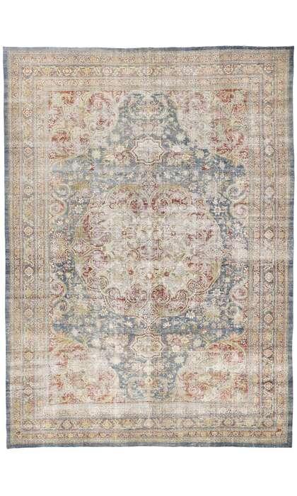 12 x 16 Antique Persian Tabriz Rug 60870