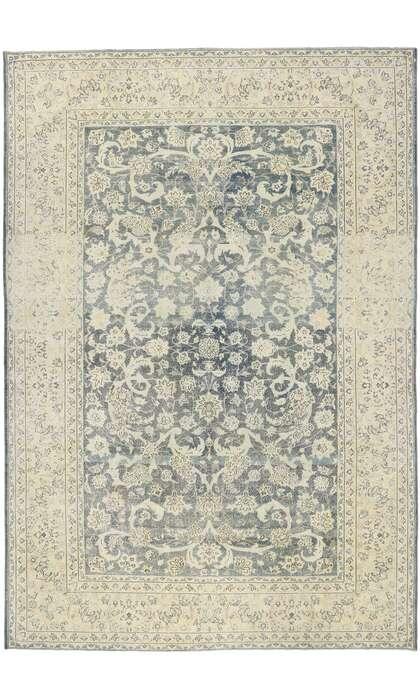 9 x 14 Antique Persian Tabriz Rug 60872