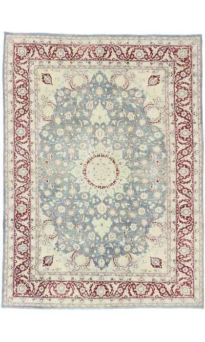 8 x 11 Antique Persian Tabriz Rug 60874